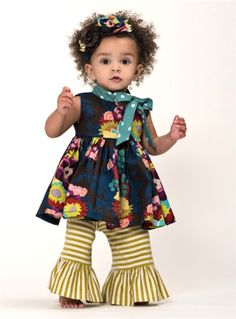 Baby By Persnickety Clothing - Emerald Pine Gwen Tunic in Multi