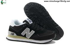 Best Gift New Balance NB W574CBR Black White Grey For Women shoes