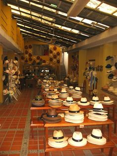 panama hats in cuenca ecuador.  They're not really Panama hats; they're Ecuador hats!!!