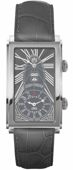 Cuervo y Sobrinos Watch Prominente Dual Time #add-content #bezel-fixed #bracelet-strap-alligator #brand-cuervo-y-sobrinos #case-depth-10-35mm #case-material-steel #case-width-30-5-x-45mm #date-yes #day-yes #delivery-timescale-call-us #dial-colour-grey #discount-code-allow #gender-mens #luxury #movement-automatic #new-product-yes #official-stockist-for-cuervo-y-sobrinos-watches #packaging-cuervo-y-sobrinos-watch-packaging #style-dress #subcat-prominente #supplier-model-no-1124-1rgg