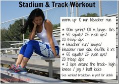 Stadium & Track Workout... when he's more advanced/between seasons