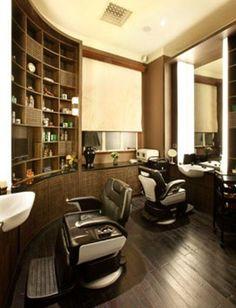New York Social Diary has the latest from Palm Beach to San Francisco to Shanghai & beyond! Barber Shop Interior, Barber Shop Decor, Hair Salon Interior, Salon Interior Design, Interior Design Images, Beauty Salon Design, Boutique Interior, Barbershop Design, Barbershop Ideas