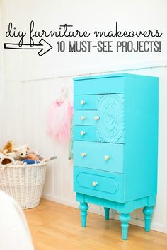 From paint to stencil to reupholstering, here are 10 DIY furniture ideas that you won't want to miss! Who knew you could do that with drop cloths?