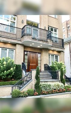 Architecture Portfolio, Facade Architecture, Exterior Stair Railing, Balcony Grill Design, Traditional Exterior, Railing Design, Metal Wall Decor, Wooden Doors, Exterior Design
