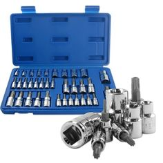 Boston Industrial E-Socket and Torx Star Bit and Tamper Proof Set  35 Piece