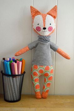 fox rag doll: Foxy rosey rag doll modern by roseyragdoll on Etsy