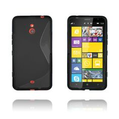 S-Line (Svart) Nokia Lumia 1320 TPU Skal