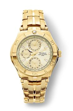Armitron Men's Multi-Function Gold-tone Watch w/Champagne Dial & Stainless Steel Case, Men's