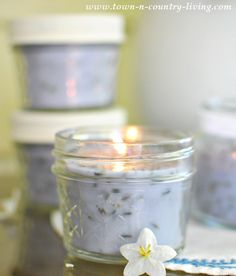 DIY French Lavender Candles