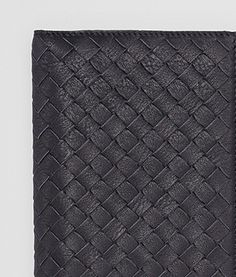 Bottega Veneta Dark Navy Ciel Intrecciato Washed Vintage Continental Wallet