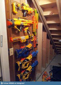 My friend's weapon storage.