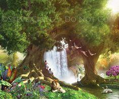 REVELATION — Creitz Illustration Studio Heaven Images, Bible Story Book, Heaven Art, Lion And Lamb, Floor Murals, Prophetic Art, Biblical Verses, Paradis, Tree Of Life