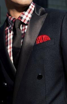 awesome Street style tendance : Pop of Red. Looks Style, Looks Cool, My Style, Swag Style, Style Men, Sharp Dressed Man, Well Dressed Men, Look Formal, Dapper Gentleman