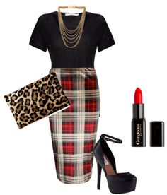 Mixing plaid with leopard - Style by My Fash Avenue