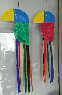 Papegaai van papieren bordjes