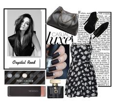 Crystal Reed by fxndoms on Polyvore featuring Ally Fashion, See by Chloé, COVERGIRL, Gucci, J.A.K. and White Label