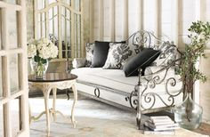 @rissamerkleygunderson silver rendition that you would do in gold Horchow - traditional - living room - Horchow