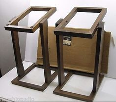 Vintage Pair NOS 1970's Fried Speaker Stands