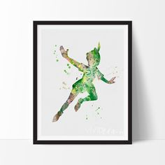 Peter Pan Watercolor Art
