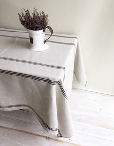 45 best linen tablecloths images table top covers tablecloths rh pinterest com