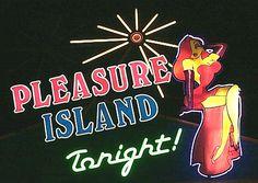 Pleasure Island Tonight Neon Sign at Walt Disney World Sleeping in Walt Disney World: http://holipal.com/hotels/