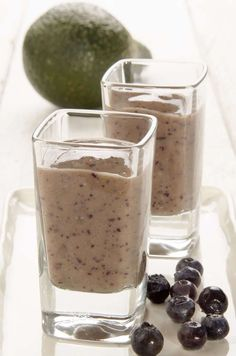 Avocado blueberry mango smoothie