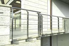 Modern Handrails Adding Contemporary Style to Your Home& Staircase Modern Staircase Railing, Exterior Stair Railing, Stair Railing Kits, Outdoor Handrail, Indoor Railing, Patio Railing, Wrought Iron Stair Railing, Balcony Railing Design, Staircase Design