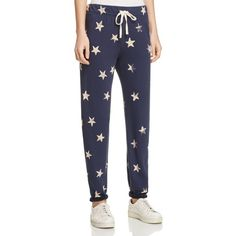 Splendid Star Print Sweatpants ($128) ❤ liked on Polyvore featuring activewear, activewear pants, ink, star sweatpants, sweat pants and splendid sweatpants