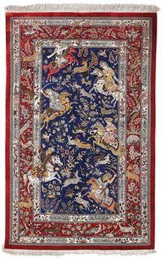Persian Qum silk rug, late 20th c