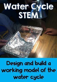 NGSS aligned middle school STEM activity to build a working model of the water cycle