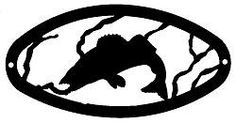 The Big Red Neck Trading Post - Wildlife Decor Bass Design Oval Wall Art, $31.99 (http://www.thebigrednecktradingpost.com/products/wildlife-decor-bass-design-oval-wall-art.html)