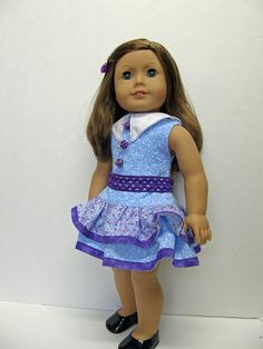 American Girl doll clothes  dress  18 inch by Unendingtreasures, $22.00