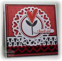 Homespun Hearts, Hearts and Stitches, Rustic Hearts Die-namics, Heart Doily Die-namics - Cindy Lawrence