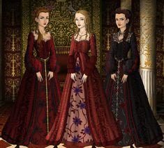 king lear goneril and regan | Goneril, Regan and Cordelia by SingerofIceandFire on deviantART