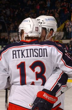 Cam Atkinson is back at it with the in -- career year Cam Atkinson, Hockey Baby, Columbus Blue Jackets, Falcons, Athletes, Nhl, Reebok, Career, Sports