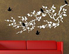 Birds Around The Cherry Blossom Branch Vinyl by DecorDesignsDecals