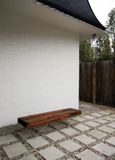 I like the inexpensive concrete tiles and rock
