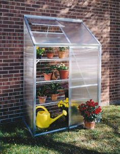 Small patio or deck, add a lean-to greenhouse to grow your own healthy food. See Small Space Designing @pinterest.com/mintsage/small-space-designing/