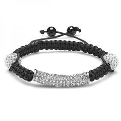 Shamballa Bracelet Men's Ladies Unisex Hip Hop Style Pave Clear CZ Cubic Zirconia Faceted Bead Unisex Adjustable - Dazzling Rock #https://www.pinterest.com/dazzlingrock/