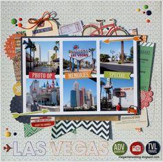 Las Vegas #layout by Megan Liane #scrapbook