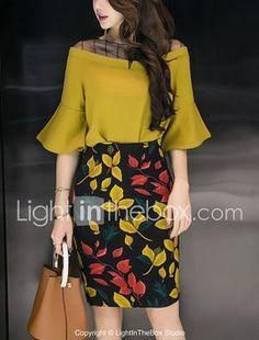 6d929f11f8b0 Camicia Gonna Completi abbigliamento Da donna Ufficio Sensuale Moda città  Estate