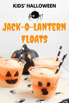 Halloween party ideas Kids Halloween party treats have never been so scary good! These Jack-O-Lantern floats are easy to make and are perfect for Halloween school party ideas. Halloween Tags, Kids Halloween Party Treats, Hallowen Party, Halloween Food For Party, Halloween Birthday, Halloween Things To Do, Halloween Party Activities, Halloween Camping, Halloween Recipe