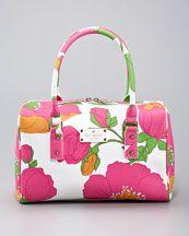Kate Spade - melinda floral-print vinyl satchel