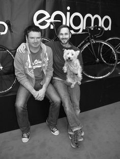 Me and Mol with Mark, the co founder of enigma bikes. He's the man who is going to build my dream bike frame. Steel is most definately real!