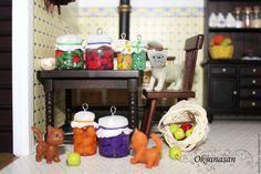 """Миниатюра ручной работы. Ярмарка Мастеров - ручная работа. Купить Миниатюра, кулон, подвеска, серьги """"Баночки с фруктами и овощами"""". Handmade, заготовки, сольенья, компот, варенье"""