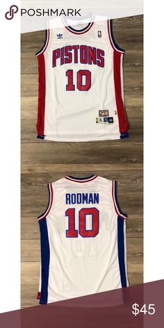 Dennis Rodman Vintage Pistons NBA Jersey Adidas XL Brand New - Perfect Condition Dennis Rodman Vintage Detroit Pistons Men's Size XL Official Adidas Swingman Buy 2 or more items and Save Money Back Guarantee adidas Shirts Tank Tops Adidas Shirt, Adidas Men, Tank Top Shirt, Tank Tops, Dennis Rodman, Detroit Pistons, Fashion Tips, Fashion Design, Fashion Trends