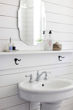 Image result for white shiplap black paint half bath