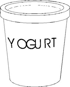yogurt coloring pages