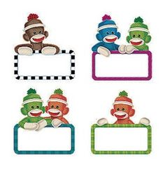 Sock Monkey bulletin board idea! K4 - Knock your socks off! | Sock ...