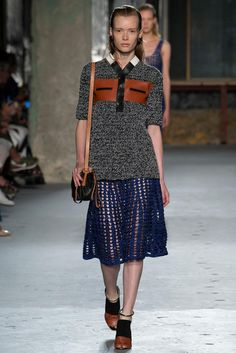 Crochet, leather, and oddly wintry colors at Proenza Schouler NYFW S15 RTW